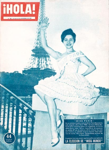 юная Коллет Пьере, псевдоним Maria Galland, мисс Париж 1960
